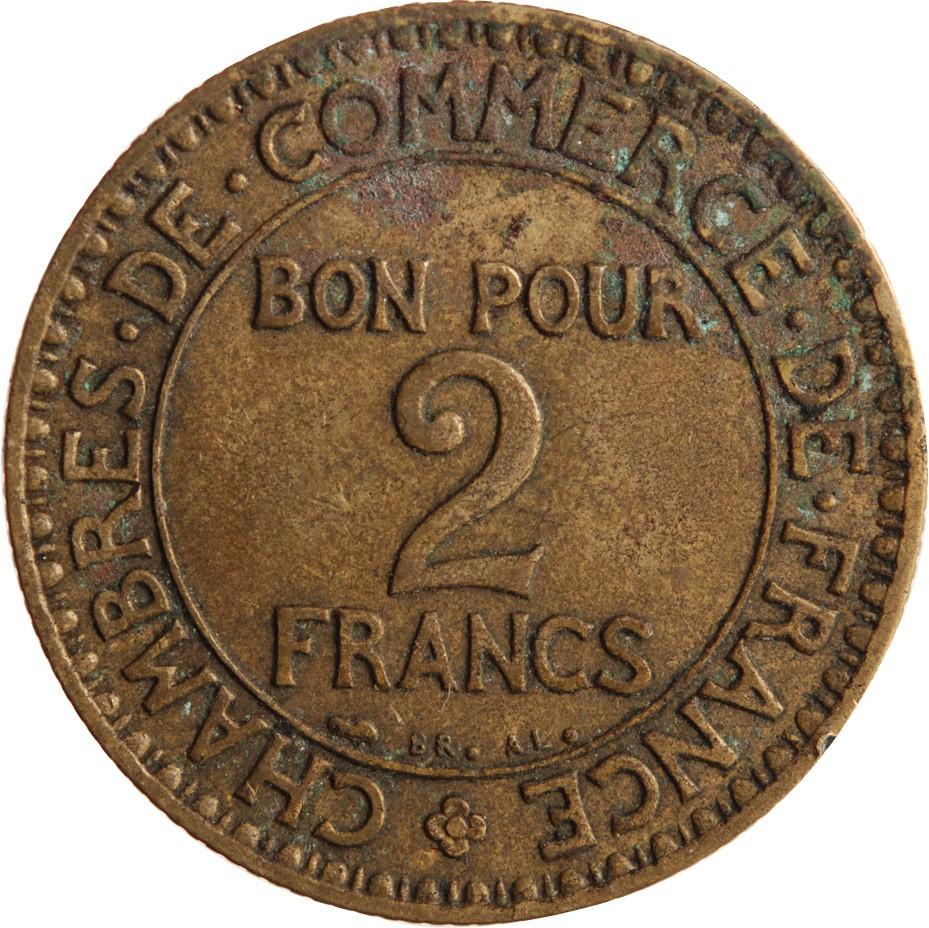 Chambre de commerce 2 francs 1927 for Chambre de commerce de bellechasse
