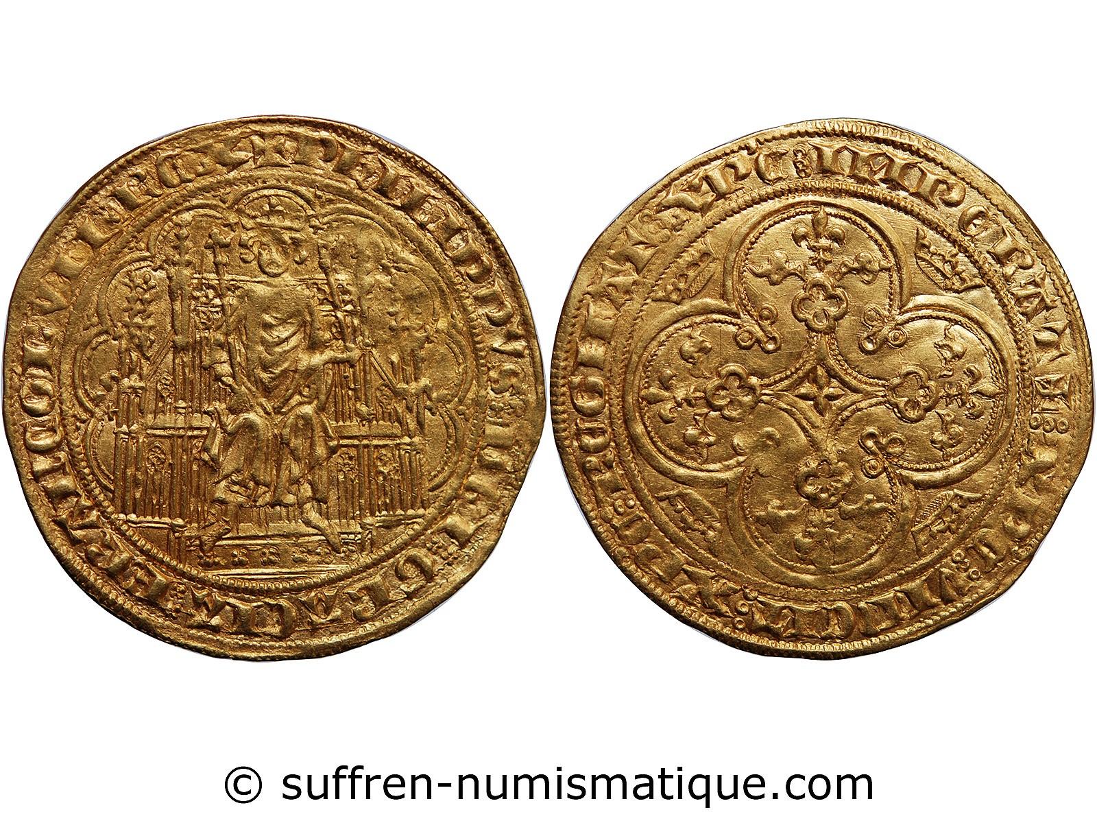 philippe vi de valois chaise d 39 or a la chaise 1328 1350 vente monnaie monnaies hugues. Black Bedroom Furniture Sets. Home Design Ideas