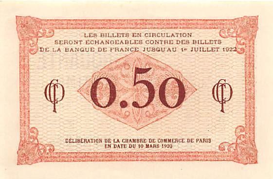 chambre de commerce de paris - 50 centimes 1920 - suffren