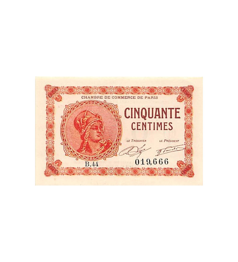 Chambre de commerce de paris 50 centimes 1920 suffren for Chambre de commerce de paris arbitrage