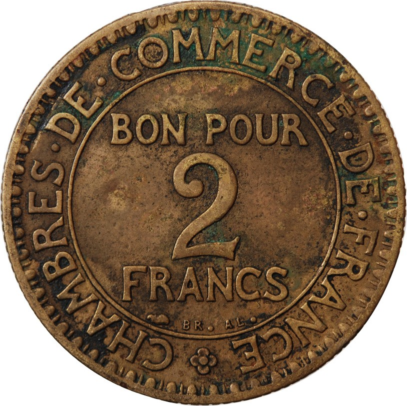 Chambre de commerce 2 francs 1927 for Chambre de commerce franco australienne