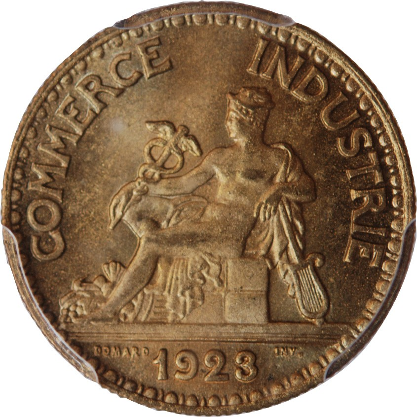 Chambre de commerce 50 centimes 1923 pcgs ms66 for Chambre de commerce haitiano canadienne