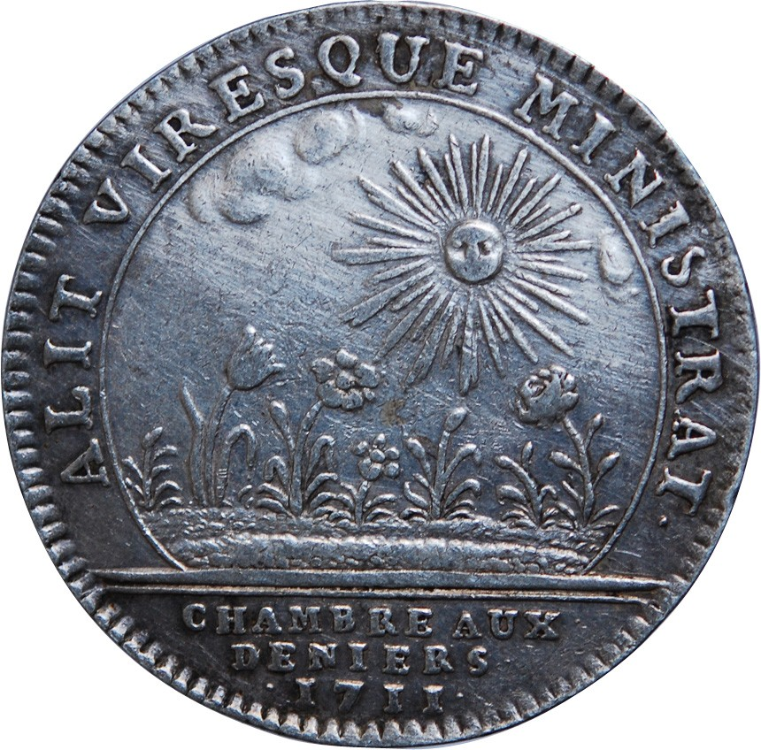 Chambre aux deniers louis xiv jeton argent 1711 for Chambre louis xiv