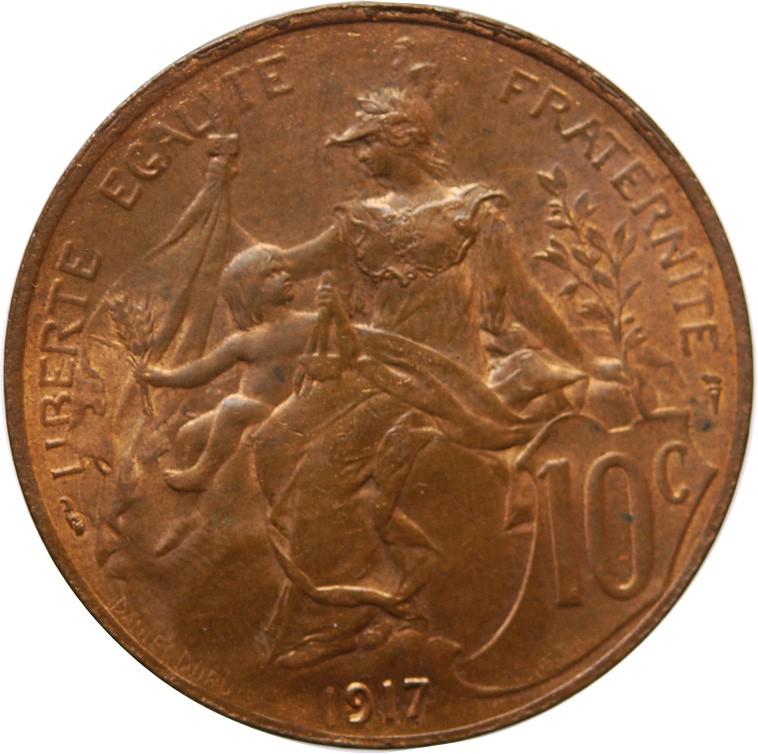 10 centime 1917