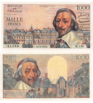 1000 FRANCS RICHELIEU...
