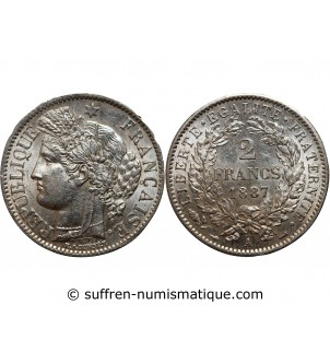 CERES - 2 FRANCS 1887 A PARIS