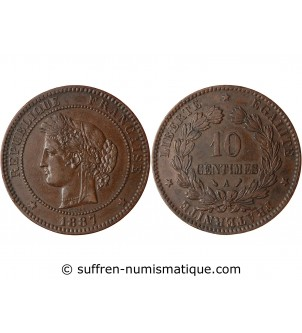 10 CENTIMES CERES 1887 A PARIS