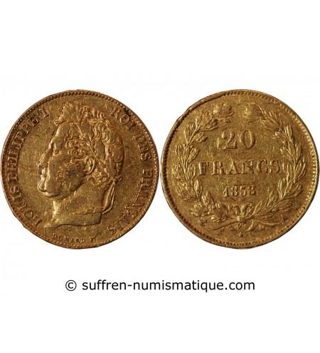 LOUIS PHILIPPE Ier - 20 FRANCS OR 1838 A PARIS