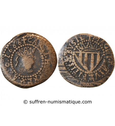 ESPAGNE, CHARLES II - SUELDO 1686 IBIZA