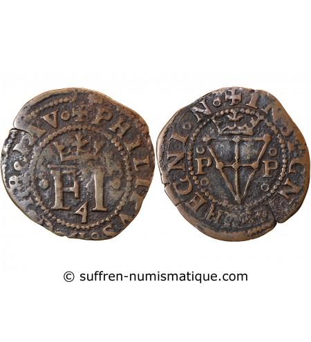 ESPAGNE, PHILIPPE IV - 4 CORNADOS PAMPLUNE 1621 / 1665