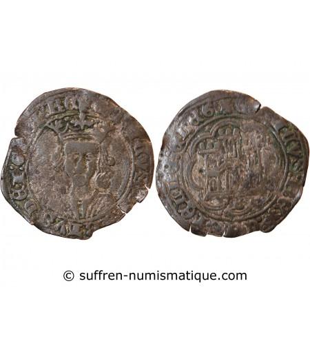 ESPAGNE, CASTILLE ET LEON, HENRI IV - 1 CUARTILLO BURGOS 1454 / 1474