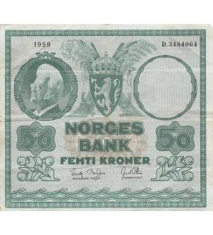 NORVEGE - 50 KRONER 1959