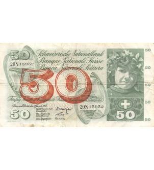 SUISSE - 50 FRANCS 1965