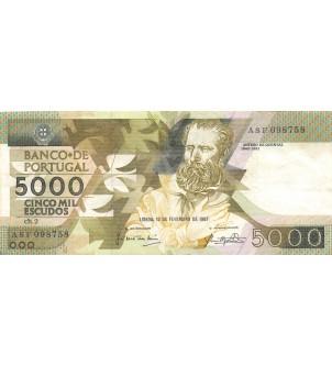 PORTUGAL - 5000 ESCUDOS 1987