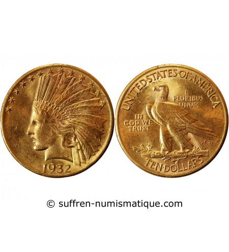 USA - INDIEN 10 DOLLARS OR 1932 PHILADELPHIE