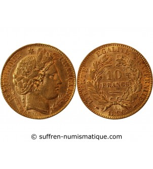 CERES - 10 FRANCS OR 1896...