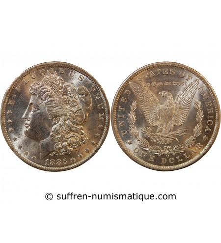 """USA - DOLLAR ARGENT 1885 O NEW ORLEANS """"Morgan Dollar"""""""