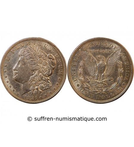 "USA - DOLLAR ARGENT 1921 PHILADELPHIE ""Morgan Dollar"""