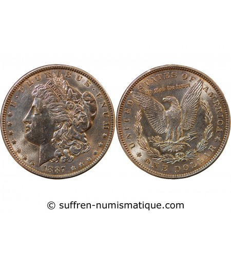 "USA - DOLLAR ARGENT 1887 PHILADELPHIA ""Morgan Dollar"""