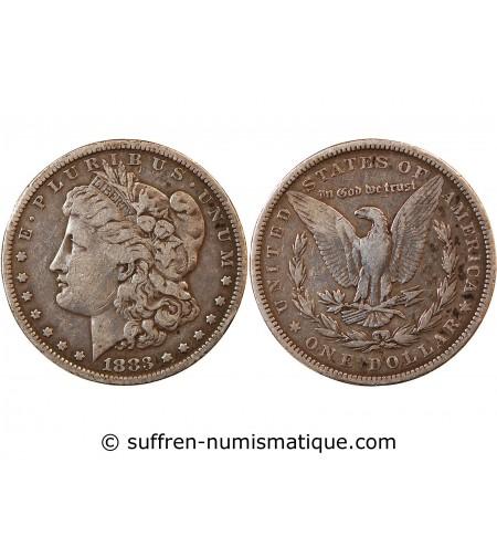 "USA - DOLLAR ARGENT 1883 PHILADELPHIE ""Morgan Dollar"""