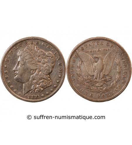 "USA - DOLLAR ARGENT 1880 S SAN FRANCISCO ""Morgan Dollar"""