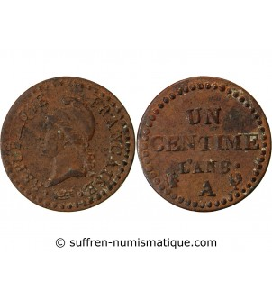 DUPRE - 1 CENTIME AN 8 A PARIS