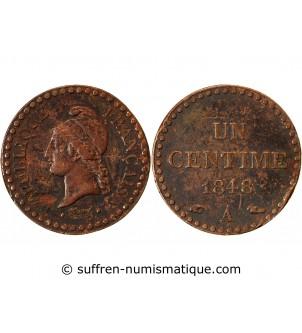 DUPRE - 1 CENTIME 1848 A PARIS