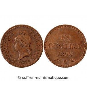 DUPRE - 1 CENTIME 1849 A...