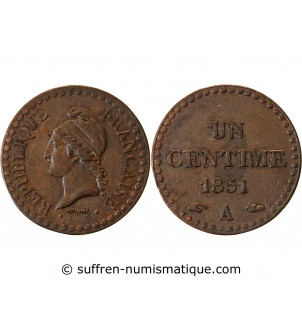 DUPRE - 1 CENTIME 1851 A...