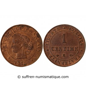 CERES - 1 CENTIME 1875 K...