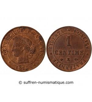 CERES - 1 CENTIME 1875 K...