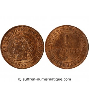 CERES - 1 CENTIME 1877 A PARIS