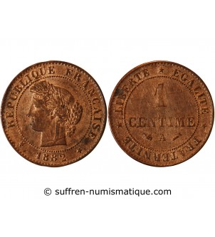 CERES - 1 CENTIME 1882 A PARIS
