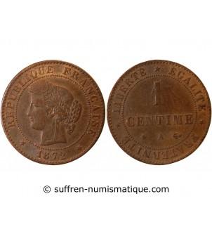 CERES - 1 CENTIME 1872 A...