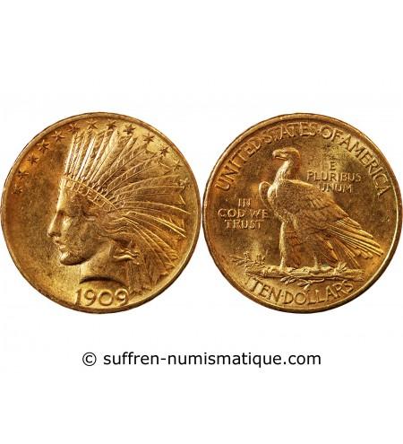 USA, INDIEN - 10 DOLLARS OR 1909 PHILADELPHIE