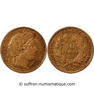 CERES - 10 FRANCS OR 1850 A...