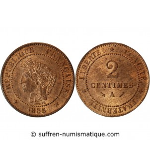 CERES - 2 CENTIMES 1885 A...