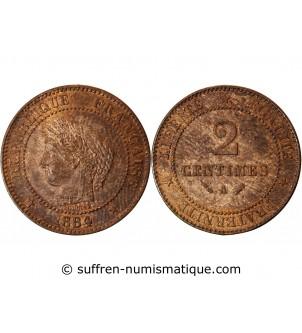 CERES - 2 CENTIMES 1884 A...