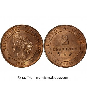 CERES - 2 CENTIMES 1887 A...