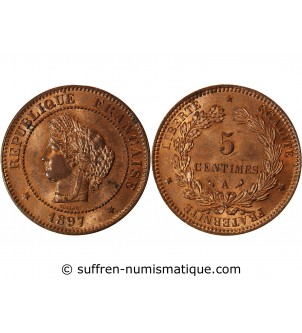 CERES - 5 CENTIMES 1897 A...