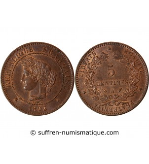 CERES - 5 CENTIMES 1892 A...