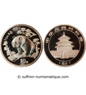 CHINE - 10 YUAN / PANDA 1997