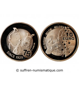 BELGIQUE, TINTIN - 10 EUROS...