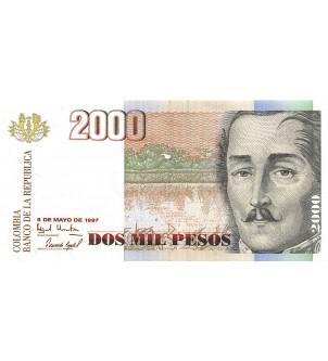 COLOMBIE - 2000 PESOS...