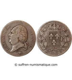 LOUIS XVIII - 5 FRANCS...
