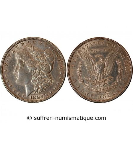 "USA - DOLLAR ARGENT 1882 PHILADELPHIE ""Morgan Dollar"""