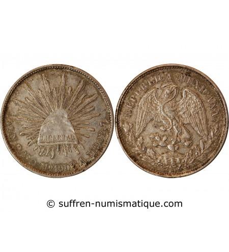 MEXIQUE - PESO ARGENT 1902 Mo AM