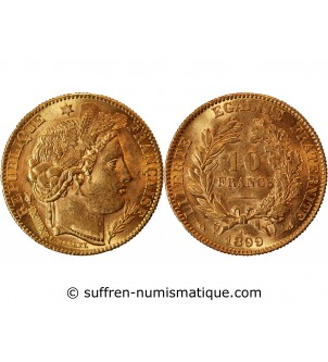 CERES - 10 FRANCS OR 1899...