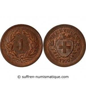 SUISSE - 1 CENTIME 1900 B BERN