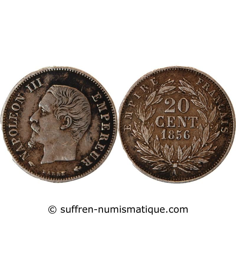 NAPOLEON III - 20 CENTIMES ARGENT 1856 A PARIS